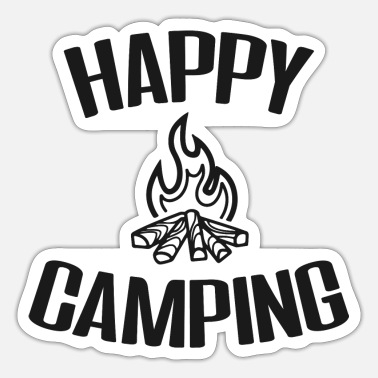 Happy Camping - Lagerfeuer - Sticker