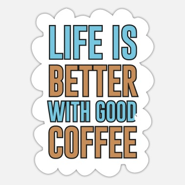 Coffeeshop Coffee Coffee Junkie Coffee Beans Barista Cafe - Sticker