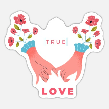 Heart Hands True love hands - Sticker