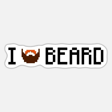 I love beard - Sticker