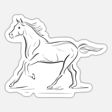 Horse gallop horse girl pony love - Sticker