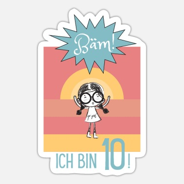 Baem The 10th Birthday T-Shirt for Girls Princess - Sticker