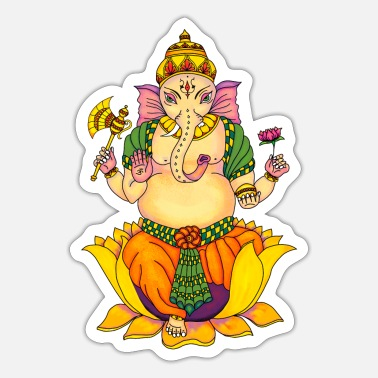 Deity Ganesha 2 - Sticker