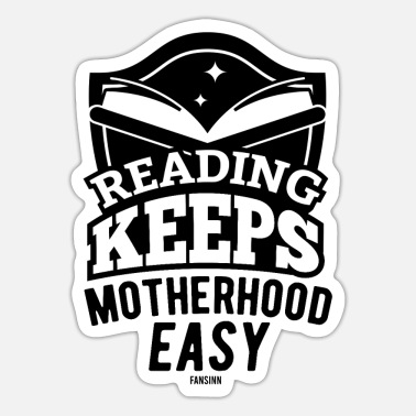 Cosy Book History Mom Reading - Sticker