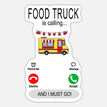 Imbisswagen Food Truck is calling - Tolles Streetfood Essen - Sticker