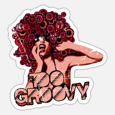 Vip WOMAN GROOVE RETRO ART - TREND - Sticker