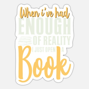 Library Funny Bookworm Sayings for Readers - Sticker