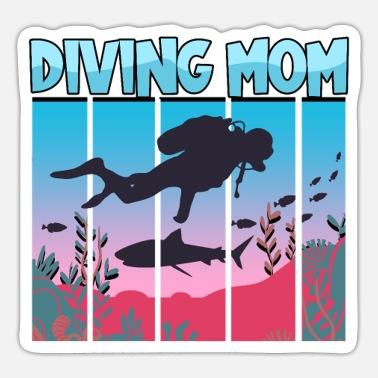 Maske-diving Dykning Snorkling Holiday Coral Reef Dykker - Sticker