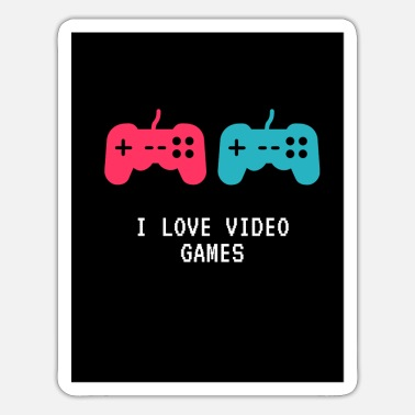 Manette I Love video games - Sticker