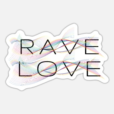 Drugs Rave Love | Elektro| Techno | Festival - Sticker