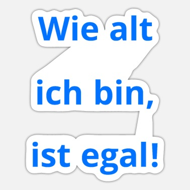 Alter Alt Geburtstag Alter - Sticker