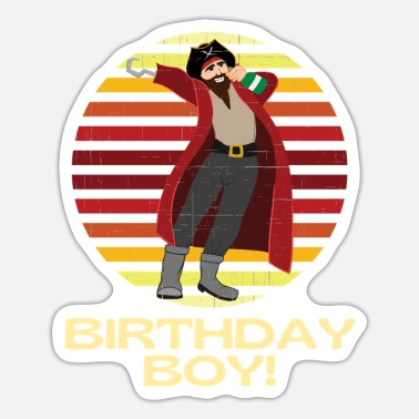 Pirate Party Pirate Party Birthday Boy - Sticker