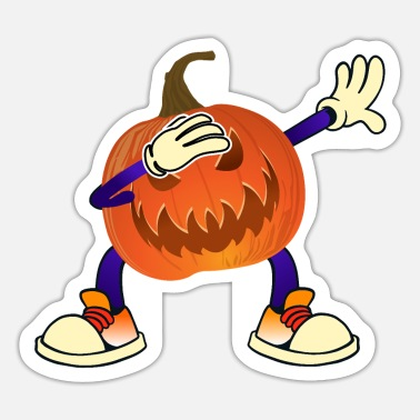 Kürbis Dabbing Pumpkin Halloween Kürbis Design. - Sticker