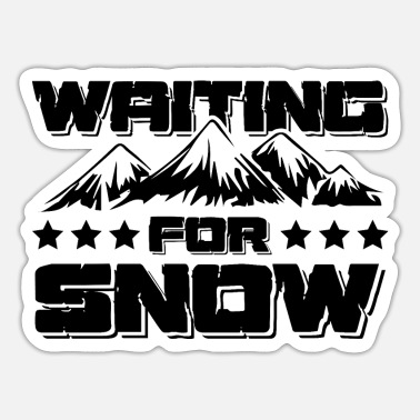 Snow Snow snow ski - Sticker