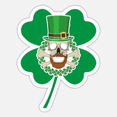 Celtic Patrick's Day Skull Green - Sticker