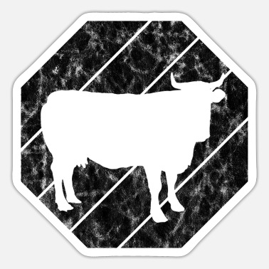 Farm Beef Retro Farmer Cows Farming Cow Farmer - Sticker