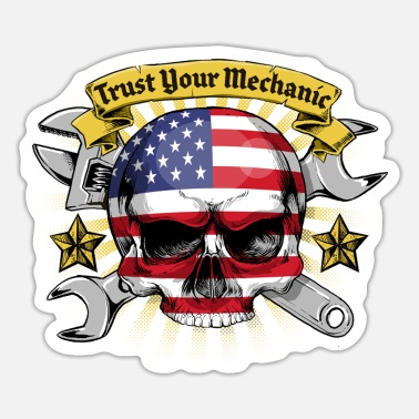 USA Mechanic - Sticker