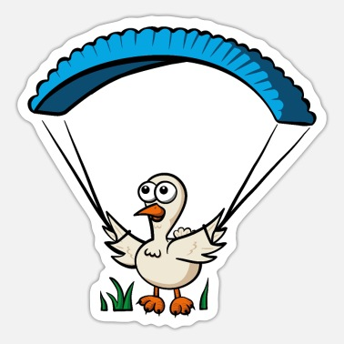 Shield Groundhendl Groundhandling Hendl Paragliding Chicken - Sticker
