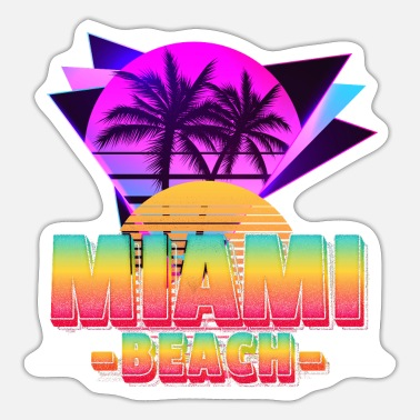 Hochzeit Miami Florida Summer Sun Sunshine Beach Palm - Sticker