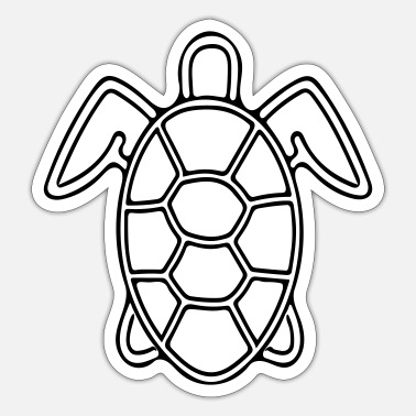 Vector Vector Schildpad - Sticker