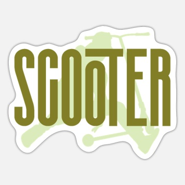 Kicker Scooter green - Sticker