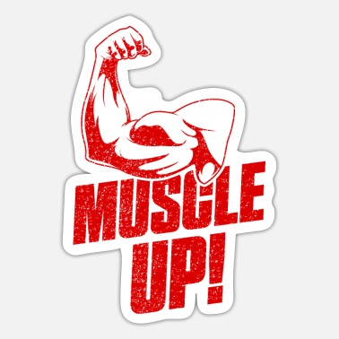 No Pain No Biceps Muscle Up Gym Fitness - Sticker