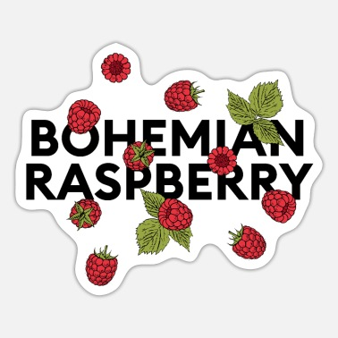 Raspberries bohemian raspberry statement with raspberries - Sticker