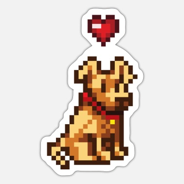 Doggie School Pixel Doggy - Sticker