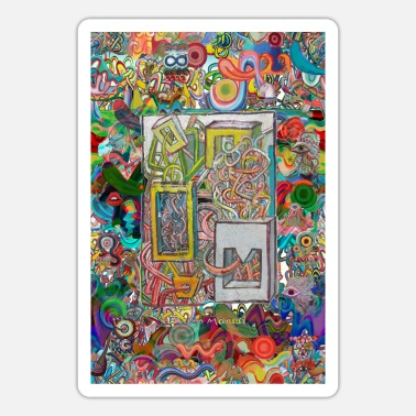 Pop Art graffiti 2021 tapestry 9 - Sticker