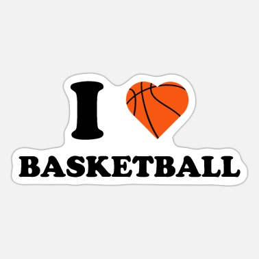 I Love Basketball I love basketball i love basketball sport nr - Sticker
