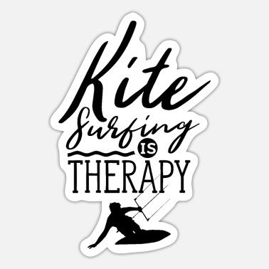 Gift Kitesurfen is mijn therapie kitesurfer kitesurf - Sticker