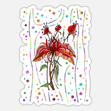 Folk Blumen - Sticker