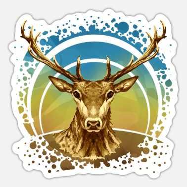 Horns Deer - Sticker