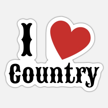 Country Me encanta Country Country Music Gift - Pegatina
