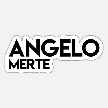 Angelo Angelo Merte Black on white - Sticker