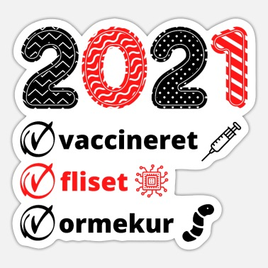 Dog Club Danish Denmark 2021 Vaccination Corona Dogs Funny - Sticker