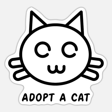 Black Jack Adopt A Cat - Sticker