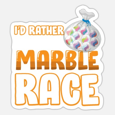 Marble Funny marble marble design for marble players - Sticker