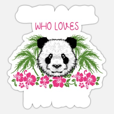 Young Just A Girl Who Loves Pandas Panda Mädchen Outfit - Sticker