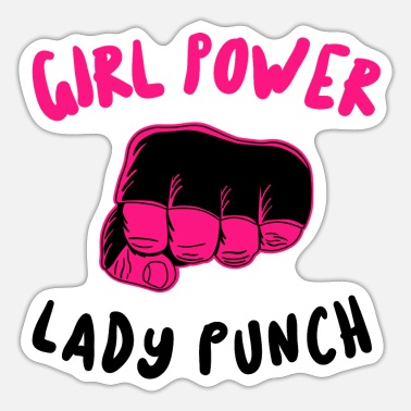 Punch Tyttö power - Lady Punch - Punch - Tarra