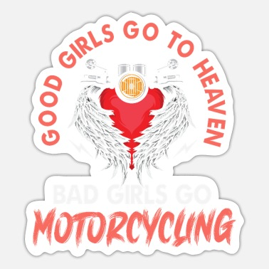 Motorcycle Club Biker Girl Motorcycle Club Motorsport - Pegatina