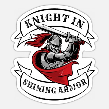 Knights Templar Knight In Shining Armor Templar Knight - Sticker