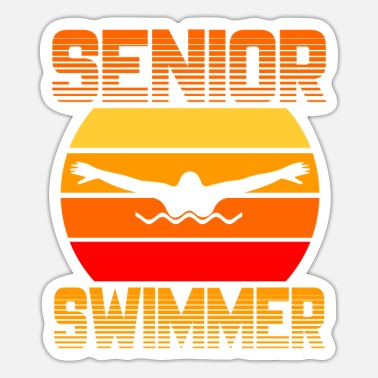 Senior Senior Swimmer - Sticker