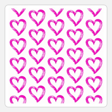Affeto Printed pink hearts - Sticker