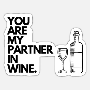 Partner In Wine. - Sticker