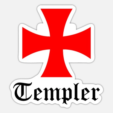 Knights Templar Templar Cross for Knights Templar and Templar - Sticker