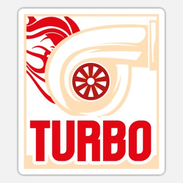 Whistle Mens Turbo Racing Car Parts Boost Turbo Lover - Sticker