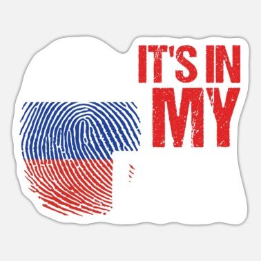 Federal Russia In My DNA Flagh Country Patriotic Gift - Sticker