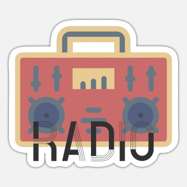 Radioactieve Radio - Sticker