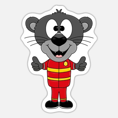 Iheart PANTHER - Brandvæsen - Animal - Barn - Baby - Sticker